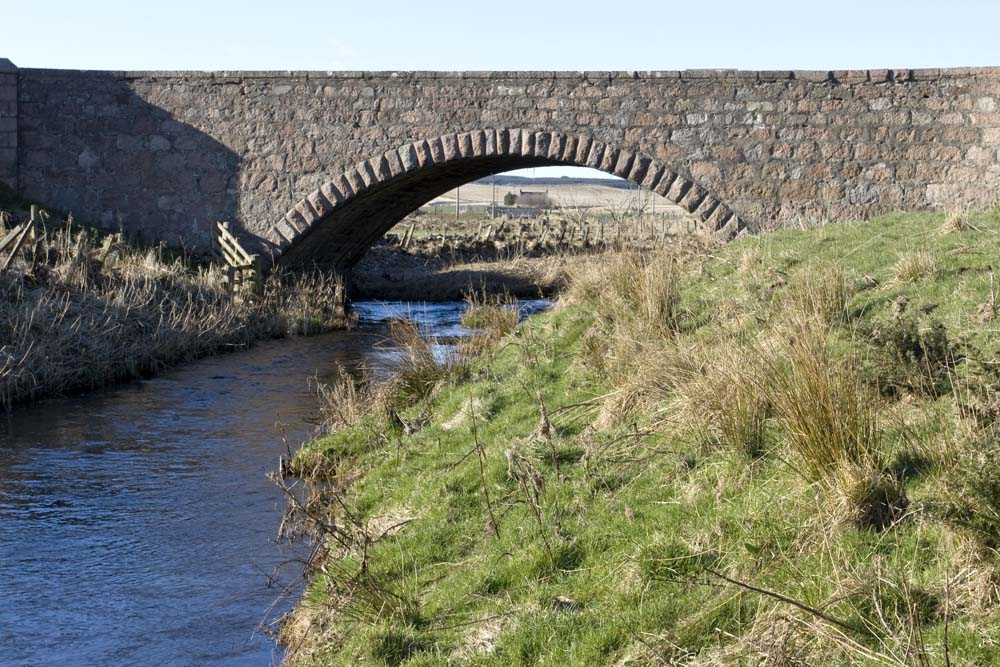 The old  Midmill bridge originally carried the main A90 Peterhead road at the Hatton Bends