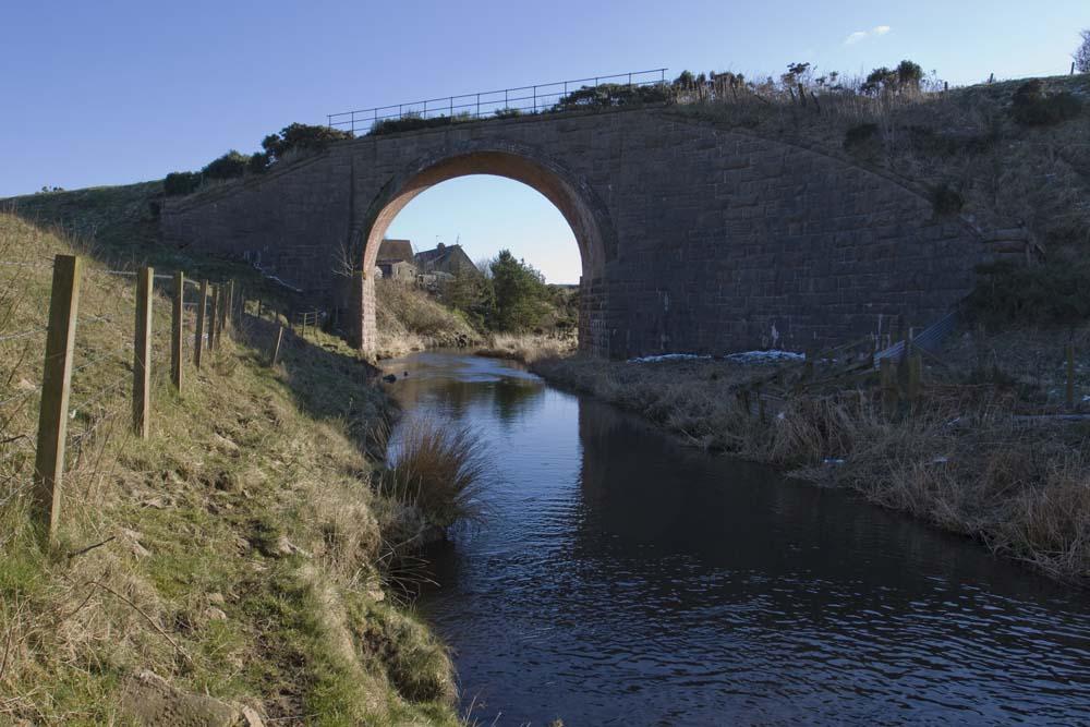 Railway bridge near Midmill and Bridgend