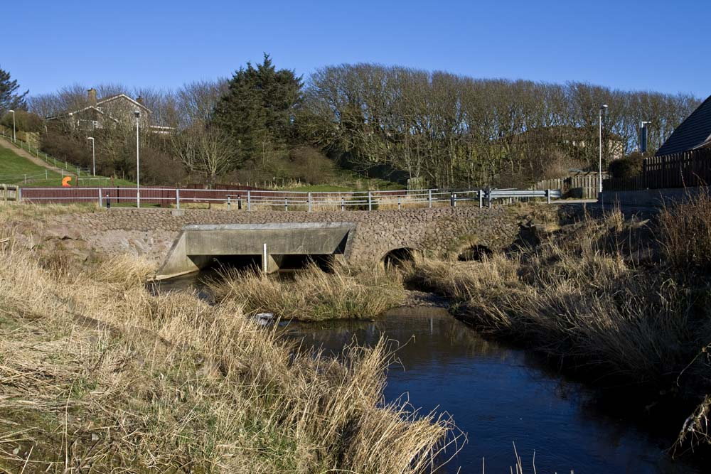 A new bridge has been constructed at Morrison Place, Cruden Bay