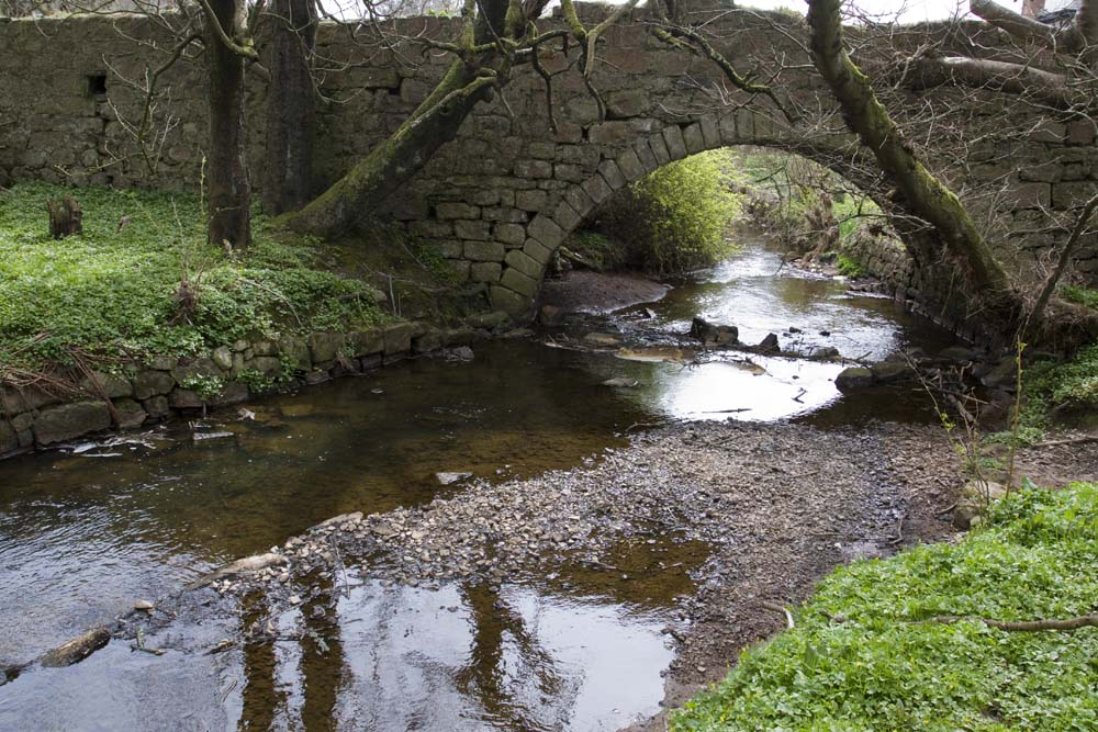 Is this the Gask burn?  You can see the dillapidated bridge described by Hisgoric Scotland.