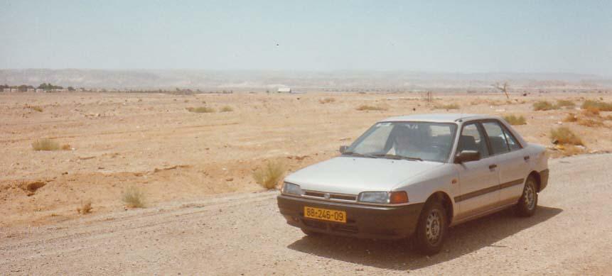 Driving in the Negev desert.