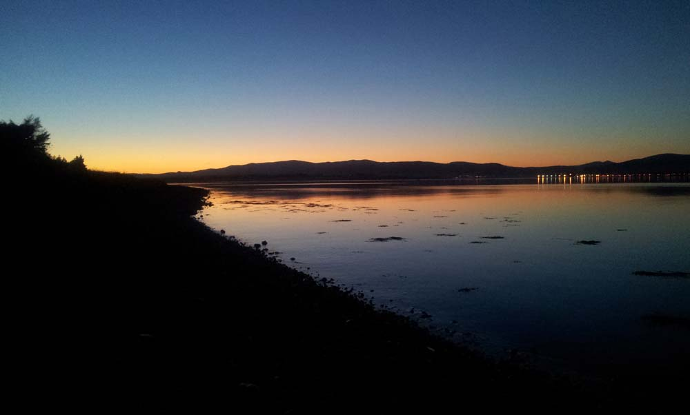 Winter evening looking across the Cromarty Firth to Invergordon.