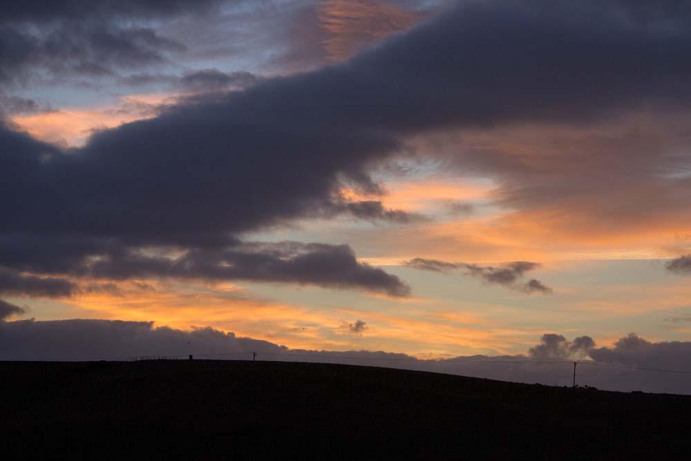 November morning sky lover the main A90  road, Hatton