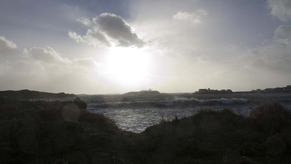 Christmas storm at Borthwen beach, Rhoscolyn.