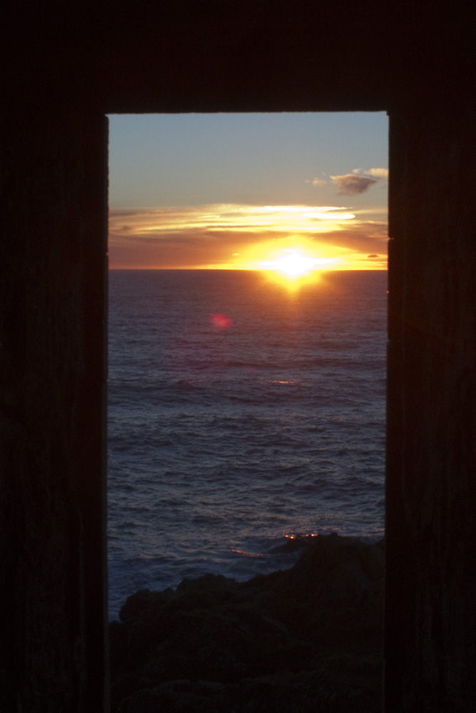 January sunrise, Slains Castle