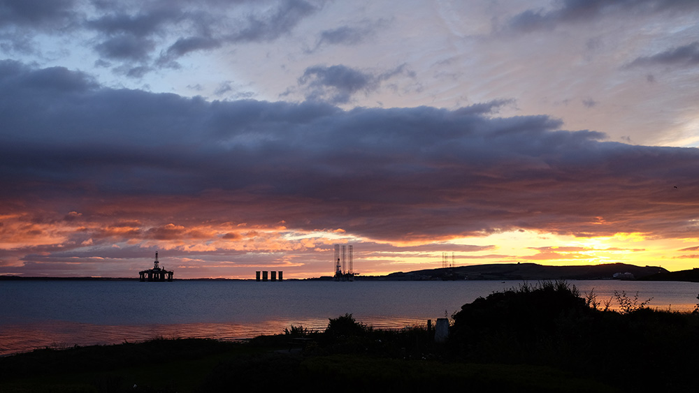 ...and this early morning view over the Cromarty Firth