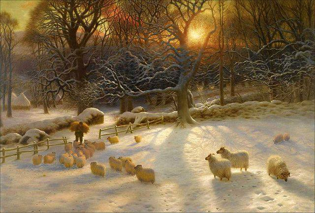 """Beneath The Snow Encumbered Branches"" by Joseph Farquharson"
