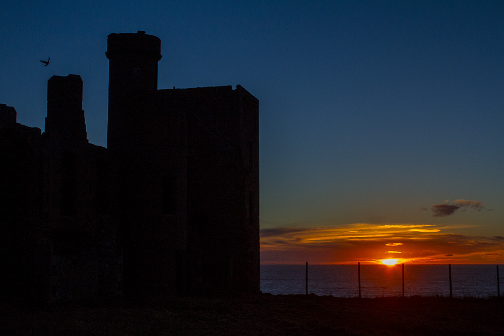 Winter sunrise, Slains Castle.
