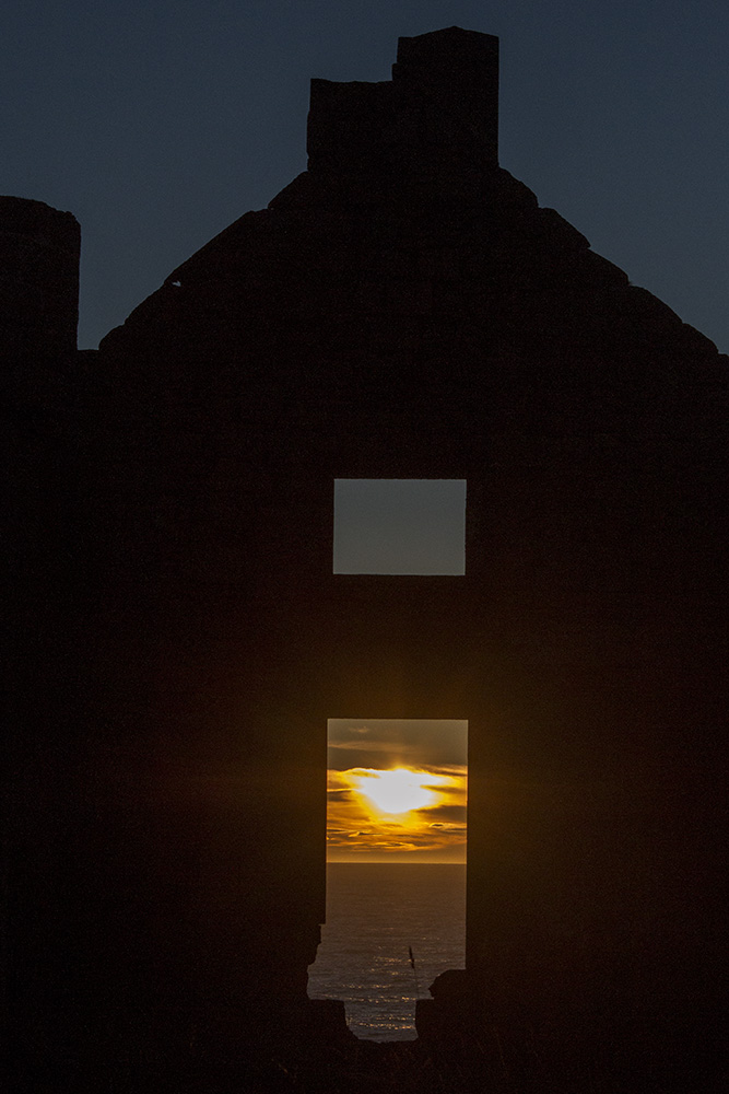 Winter sunrise at Slains Castle