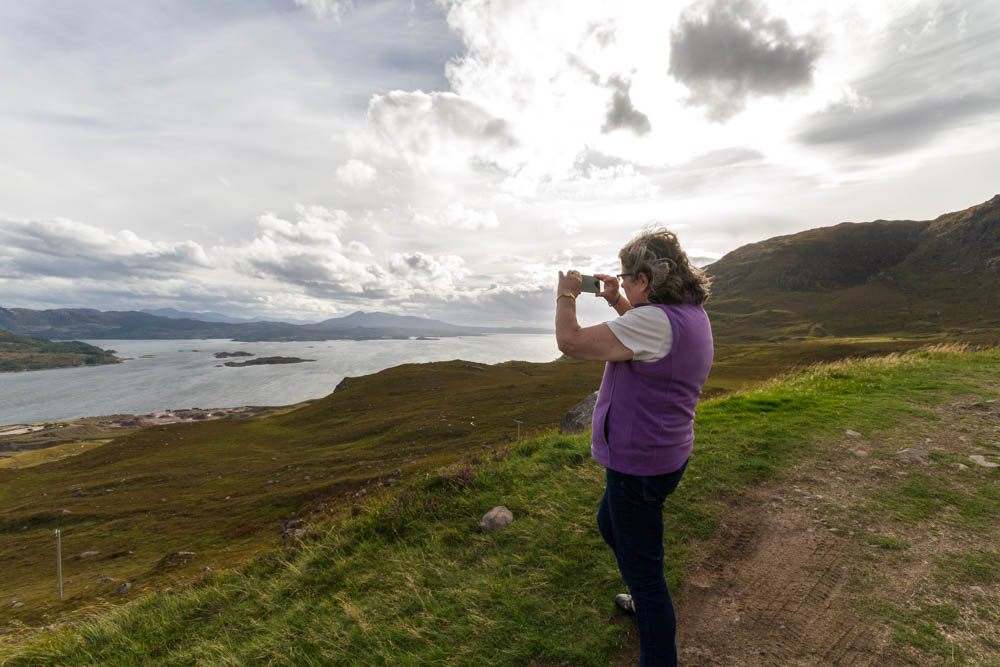 Admiring Loch Kishorn